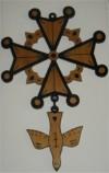 Croix huguenote en bois